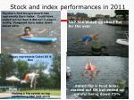 stock and index performances in 2011