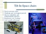 tilt in space chairs