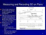 measuring and recording sd on plans