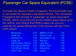 passenger car space equivalent pcse