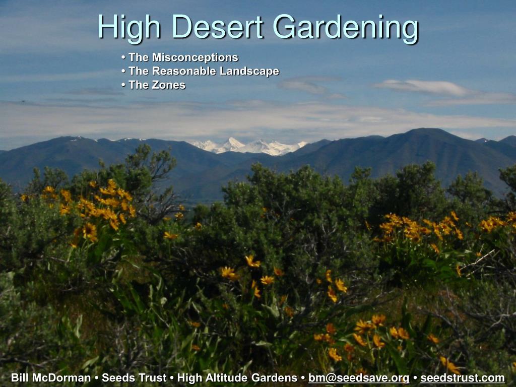 high desert gardening l.