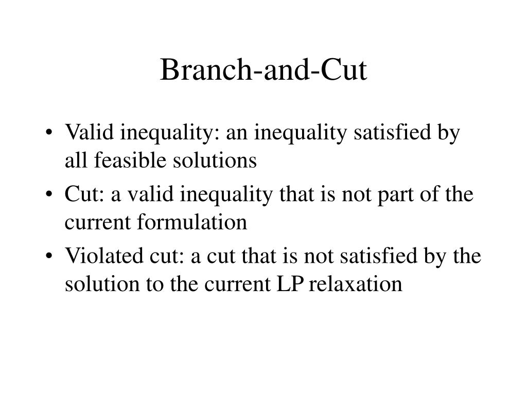 branch and cut l.