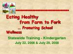eating healthy from farm to fork promoting school wellness