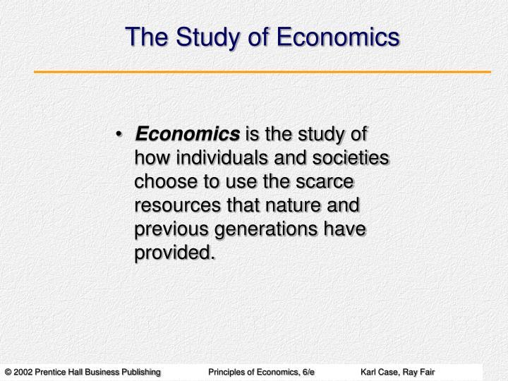 the study of economics n.