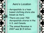 aero s location