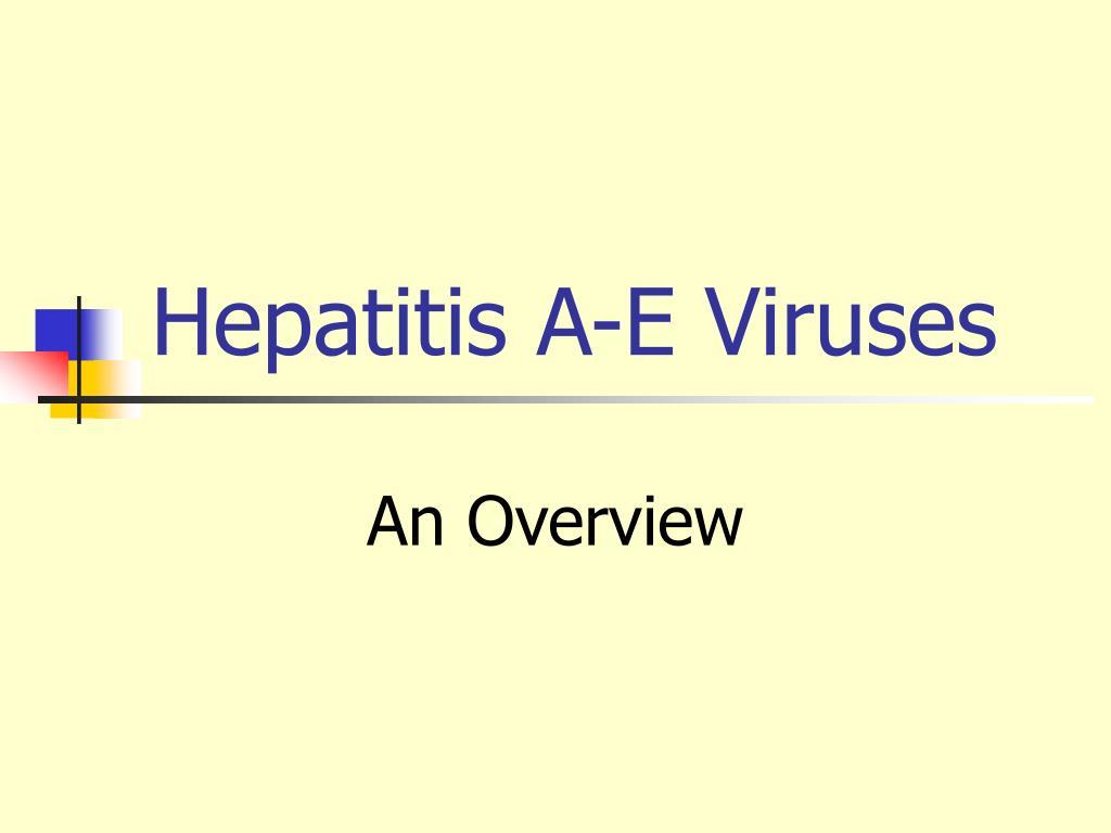 hepatitis a e viruses l.