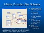 a more complex star schema