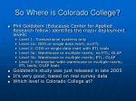so where is colorado college