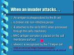 when an invader attacks