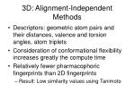 3d alignment independent methods