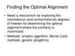finding the optimal alignment