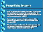 demystifying recovery