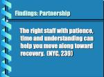 findings partnership