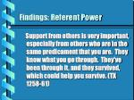 findings referent power