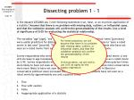 dissecting problem 1 1
