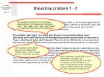 dissecting problem 1 2