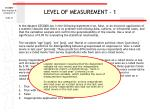 level of measurement 1