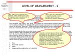 level of measurement 2