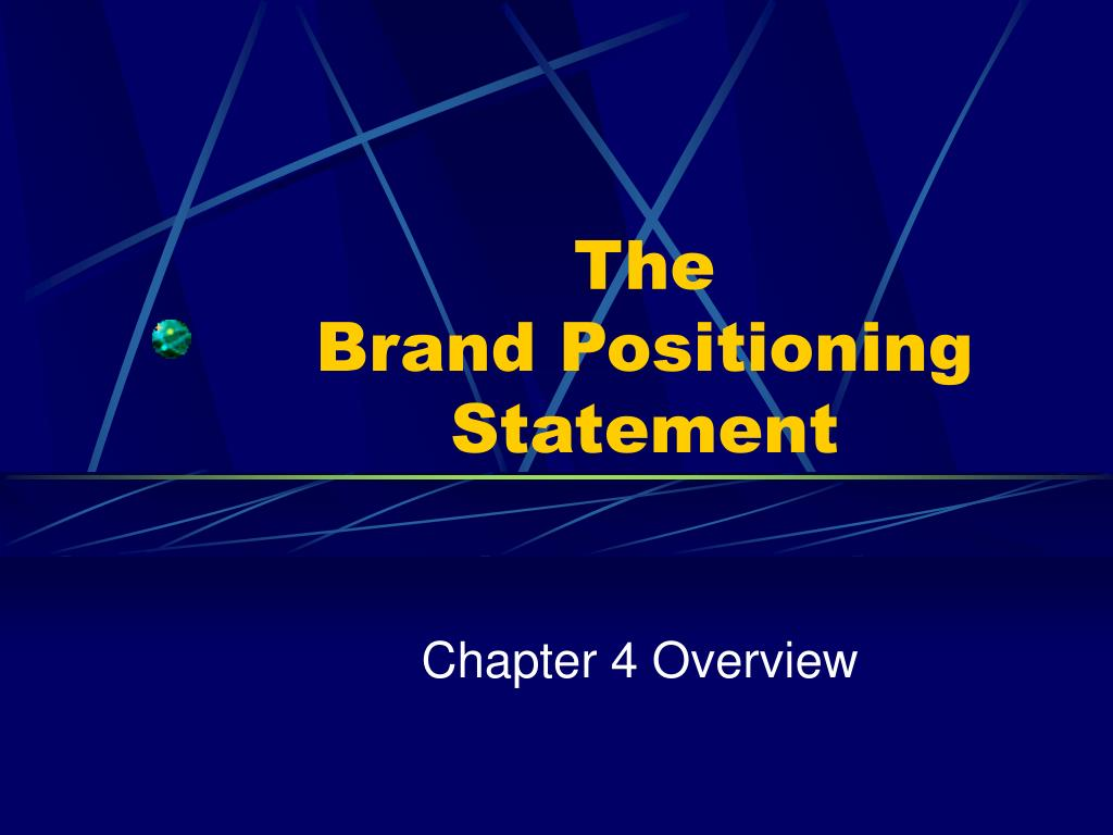 the brand positioning statement l.