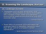 ii scanning the landscape horizon13