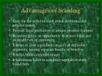 advantages of branding
