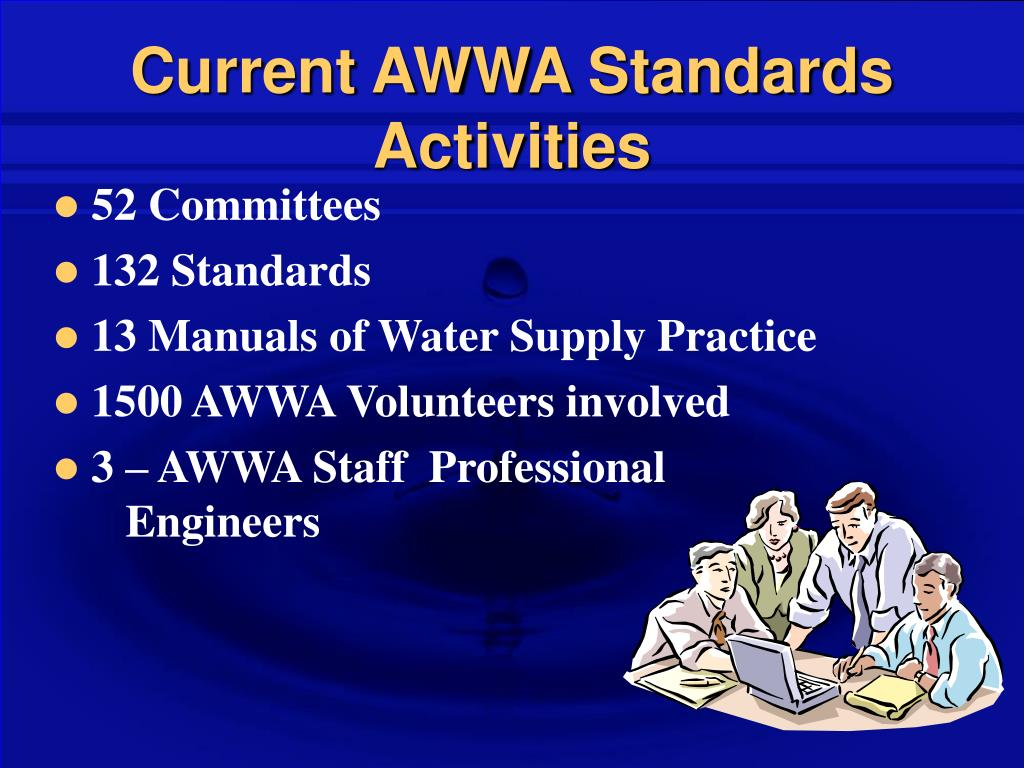 Current AWWA Standards Activities