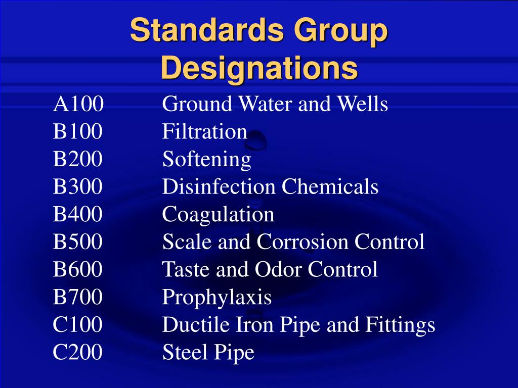 Standards Group Designations