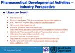 pharmaceutical development al activities industry perspective
