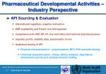 pharmaceutical development al activities industry perspective20