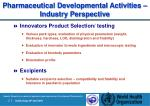 pharmaceutical development al activities industry perspective21