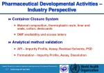 pharmaceutical development al activities industry perspective22