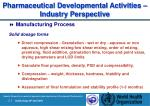 pharmaceutical development al activities industry perspective23