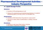 pharmaceutical development al activities industry perspective24