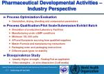 pharmaceutical development al activities industry perspective25