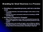 branding for small business is a process