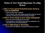 rules to turn small business to a big brand12