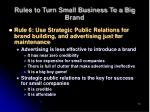 rules to turn small business to a big brand13