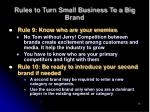 rules to turn small business to a big brand15