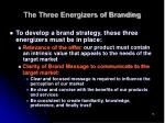 the three energizers of branding