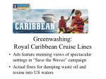 greenwashing royal caribbean cruise lines