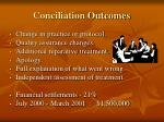conciliation outcomes