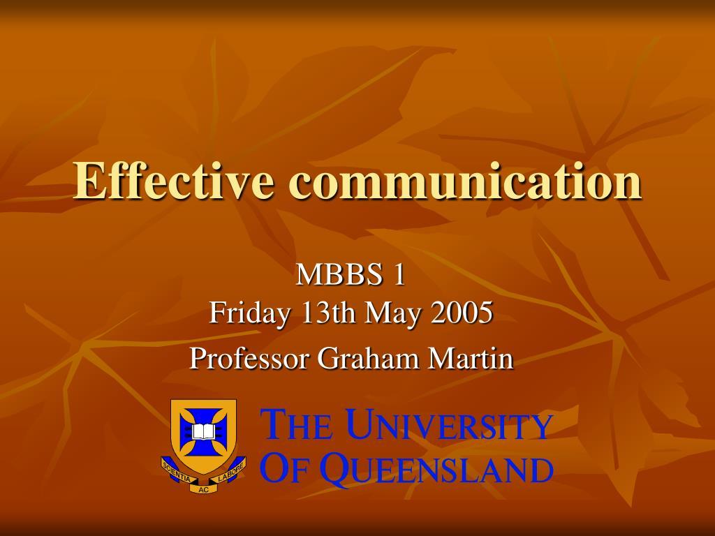 effective communication l.