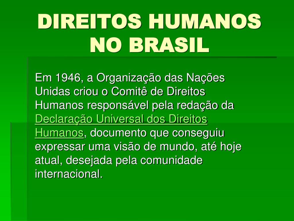 direitos humanos no brasil l.