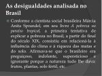 as desigualdades analisada no brasil