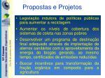 propostas e projetos