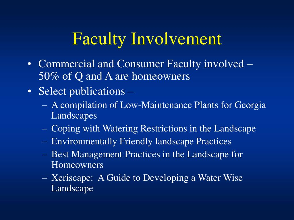 Faculty Involvement