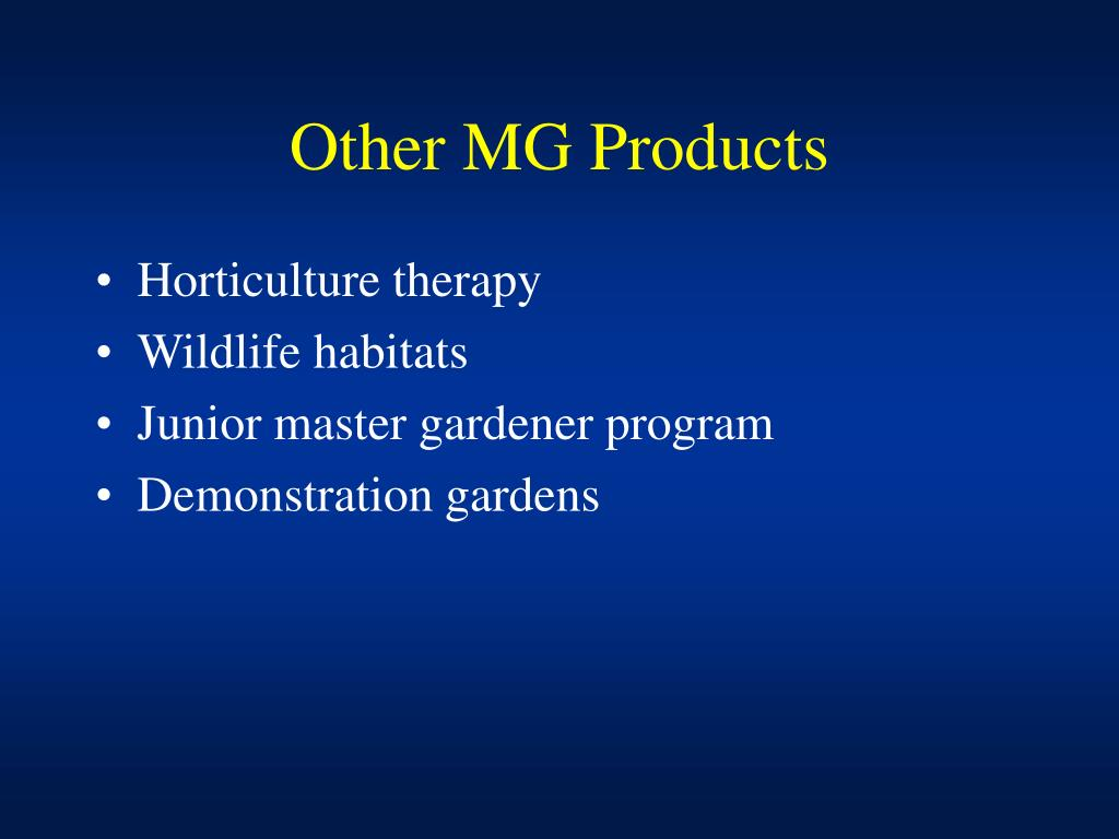 Other MG Products