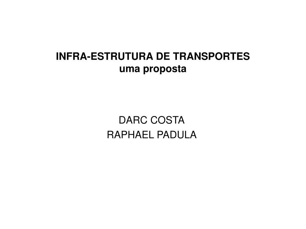 infra estrutura de transportes uma proposta l.