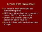 general brass maintenance