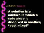 solutions video